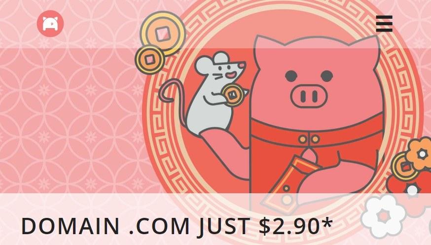 Flashsale - Porkbun giảm giá domain .COM chỉ còn $2.9