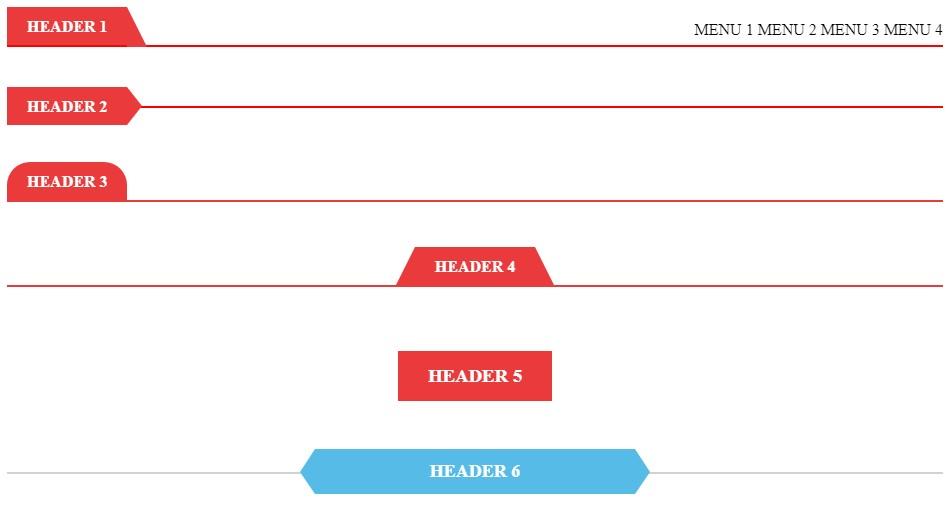 HTML, CSS nổi bật cho thanh tiêu đề