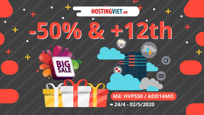 HostingViet giảm tới 50%